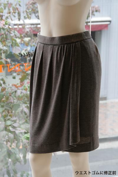 型紙 ジャージー巻き風スカート