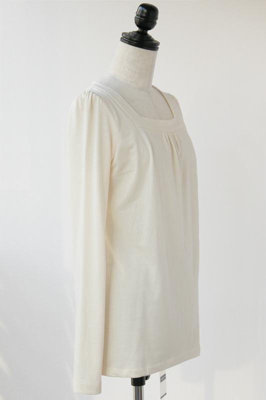 型紙 スクエアネックロングTシャツ