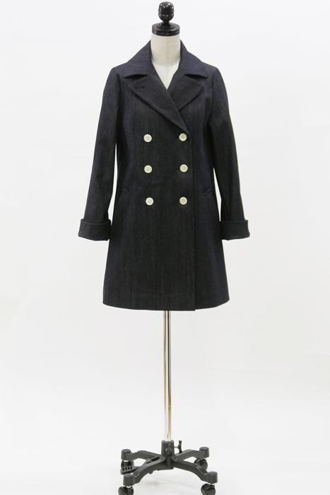 型紙通販 9分袖、ダブルブレストハーフコート